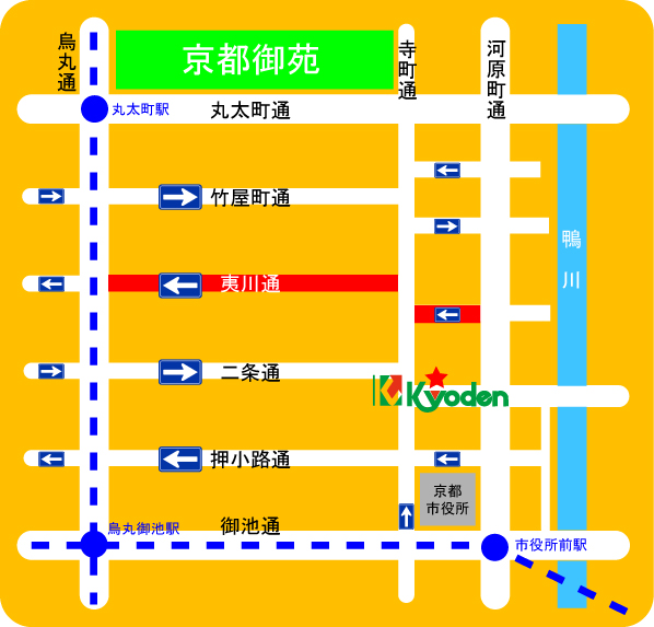 one way map