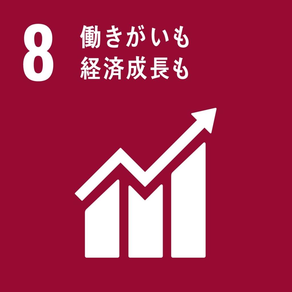 SDGs包摂的かつ持続可能な経済成長及びすべての人々の完全かつ生産的な雇用と働きがいのある人間らしい雇用(ディーセント・ワーク)を促進する 画像
